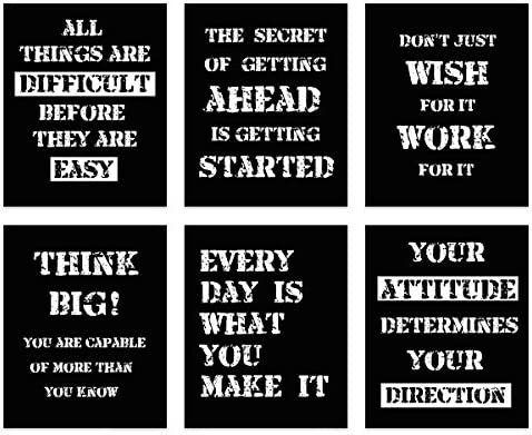 Inspirational Poster Motivational Quotes Print Unframed Inspire Black White Positive Quotes product image
