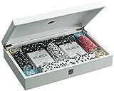 Juego- Confezione contenente 2 mazzi di Carte e 202 fisches, Colore Albus Medusa, JU00081...