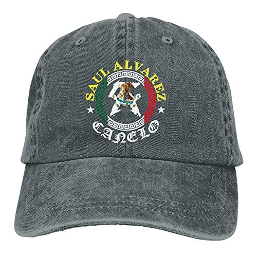 Malisavill Saul Alvarez Canelo 1 Impreso Denim Hat Ajustable Vintage Baseball Sombreros Denim Casqueta para Hombres Mujeres Negro, ^^, Taille unique