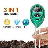 iPower 3 in 1土壌測定器 土壌酸度計 土壌phメーター 土壌テスター 多機能PH/照度//水分測定 ガーデン 農業 栽培 家庭菜園 屋内/屋外植物など適用