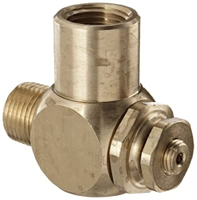 """Parker 032510500 3251 Series Brass Right Angle Flow Control Valves, 1/2"""" NPT Male x Female, 125 psi from Parker"""