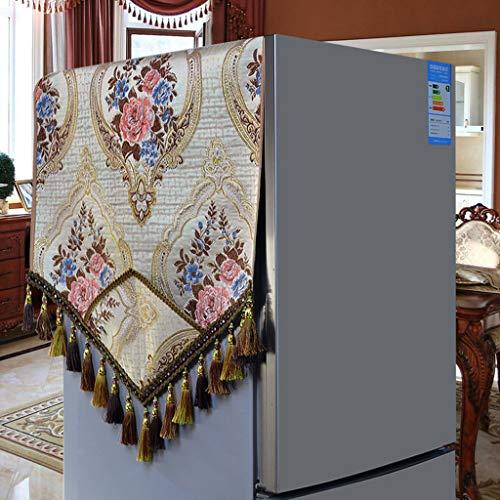 MENUDOWN Kühlschrank Staubschutz,Retro Kühlschrank Staubdichtes Tuch/Antifouling Geeignet für Mikrowellenherd, Ofen, Einzel- / Doppeltürkühlschrank, Waschmaschine,C-50 * 140cm