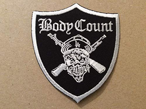 BLUE HAWAI Ecusson Patches aufnaher Toppa termoadhesiva–Body Count 8* 9cm