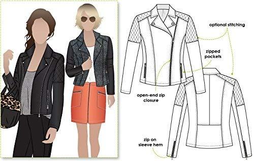 ARC Style Schnittmuster – Ziggi-Jacke (Größe 18–30)