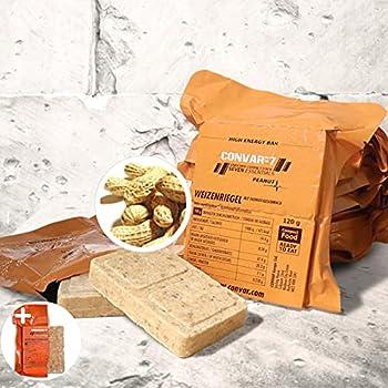 CONVAR-7 Pack barre énergétique Peanut, pour sport et activités de plein air, nourriture pour situations d'urgence, ration de survie. Goût cacahuètes, emballage compact et longue conservation.