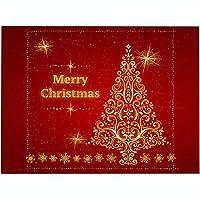 プレースマットクリスマスプレースマットクッションパターンプレースマットテーブルマット防水滑り止め耐熱プレースマットクリスマスデコレーション用4pcs,S