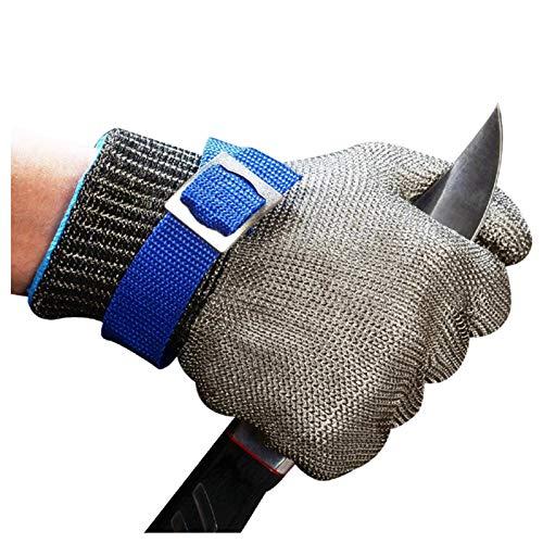 Kettenhandschuhe 316L-Stahldrahtschneideständige Metallhandschuhe, Edelstahldrahthandschuhe, verschleißfeste Metzgerhandschuhe (Color : 8pcs, Size : Medium)