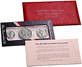 1976 S U.S. Mint Set - 3 coin 40% Silver Bicentennial Commeratives Uncirculated