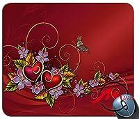 ZMviseハートパターン背景ファッション漫画マウスパッドマットカスタム四角形ゲームマウスパッド