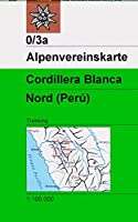 DAV Alpenvereinskarte 0/3A Cordillera Blanca Nordteil 1 : 100 000: Trekkingkarte