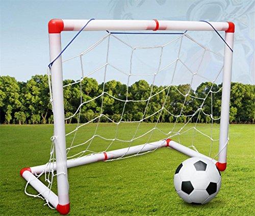 FJROnline Fußballtor für Kinder, mit Ball, 126 cm, Fußballtoren, Posten, Sport, Outdoor, Heimspiel, multi, 60*90CM