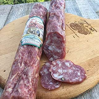 Fortuna's Italian Dry Salami, Gluten Free, Nitrate Free Dry Cured Finocchiona Salami 10 Ounce Stick