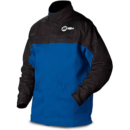 Combo Weld JKT Ctn//Leather 2XL Royal//Blk