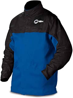 Combo Weld JKT, Royal/Blk, Ctn/Leather, XL