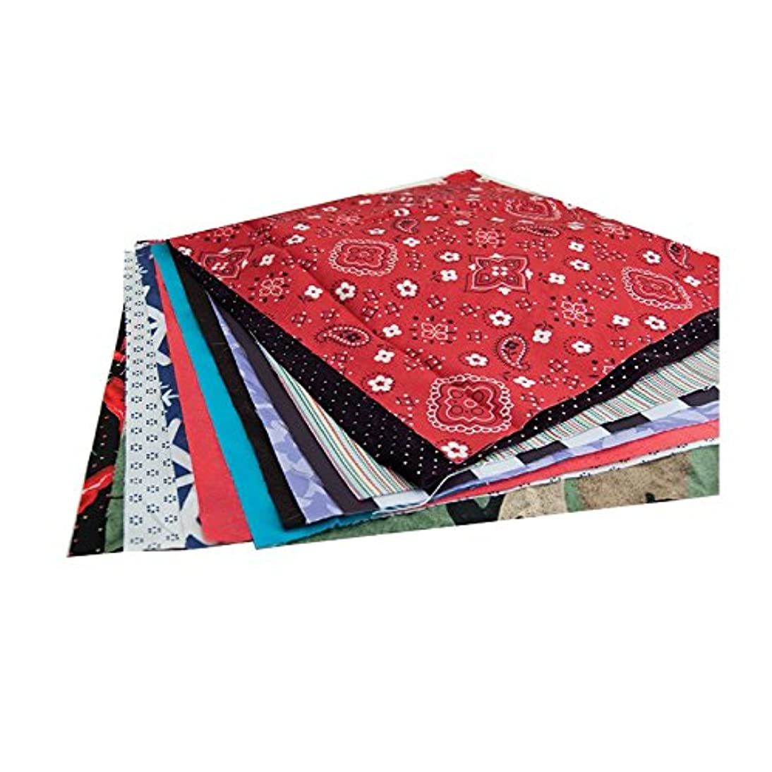 """Hygloss Products Fabric Squares for DIY Sewing, Decorating, Puppet Making and Quilting,18"""" x 36"""" Inches, Assorted Color & Style Pattern, 6 Pieces"""