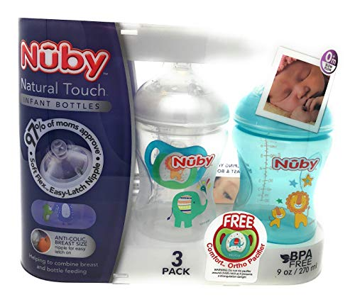Affordable Natural Touch 3-PK Infant Baby Bottles | 0 M Slow Flow
