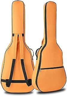 Alician Portable Double Straps Acoustic Guitar Soft Carry Case Gig Bag Orange Musical instrument
