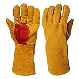 Dicke Schweißhandschuhe, Lederhandschuhe Arbeitshandschuhe aus hitzebeständigem und...