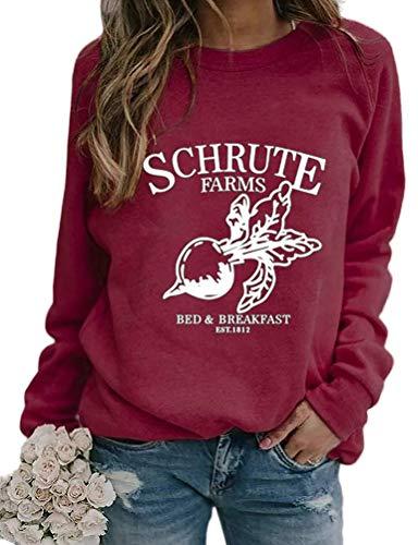 노피시 여성 롱 슬리브 슈루트 농장 스웨터