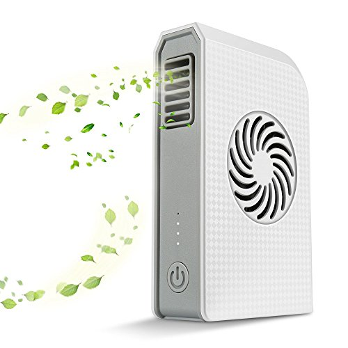 Hey Song Small Personal Fan with 6000mAh Power bank, Mini Handheld USB Desk Fan with Portable Charger, Best using in Travel, School, office, Kitchen, outdoor sport, Camping Equipment. (White)