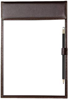 A4 Size Clipboard, Luxury File Folder Writing Pad with Pen Holder