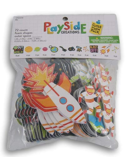 Playside Creations Outer Space Foam Sticker Set - 72 Pieces