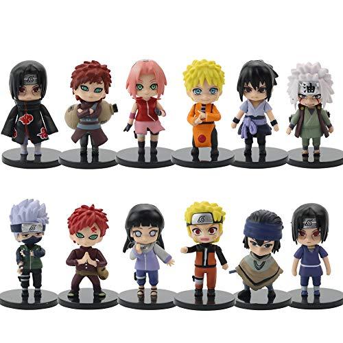 12 Stück Pop-Figuren Pop Naruto-Figuren Naruto Set kleine Figuren in Form von Naruto Figuren