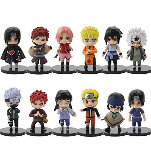 12 Pcs Figurine Pop Naruto Personnage Figurine Naruto Set de Petites Figurines en Forme de Personnages de Naruto