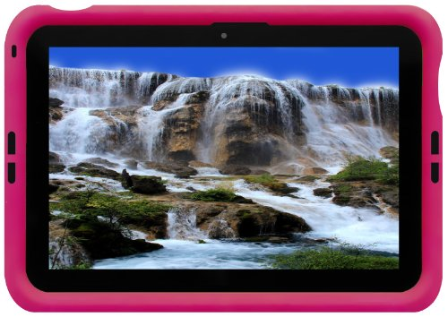 Bobj Silikon-Hulle Heavy Duty Tasche fur ASUS MeMO Pad FHD 10 Cellular Tablette ME302KL & ASUS MeMO Pad Smart 10 Tablette ME301T - BobjGear Schutzhulle (Himbeere)