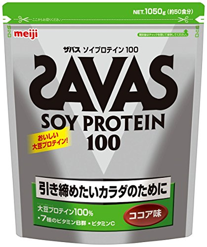 Meiji Savas Soy Protein 100 Cocoa Flavor (50 Servings) 2.3 oz (1,050 g)