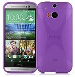 Cadorabo Funda para HTC One M8 (2.Gen.) en ORQUÍDEA Violeta - Cubierta Proteccíon de Silicona TPU Delgada e Flexible con Antichoque - Gel Case Cover Carcasa Ligera