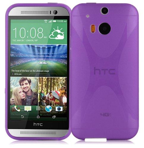 Cadorabo Hülle für HTC ONE M8 (2.Gen.) in Flieder VIOLETT – Handyhülle aus flexiblem TPU Silikon – Silikonhülle Schutzhülle Ultra Slim Soft Back Cover Case Bumper