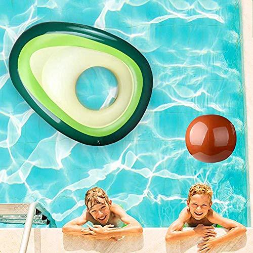 ZCPDP Aufblasbare Luftmatratzen Wasserbett Avocado Pool Wasser schwimmende Reihe mit Ball Summer Beach Toys Schwimmen schwimmender Stuhl Luftbett