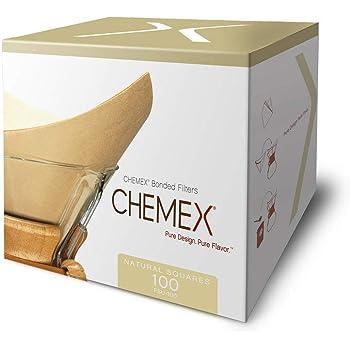 Chemex FSU-100 - Box 100 Filtri - Non sbiancato - Marrone naturale - Per Chemex 6 e 8 tazze