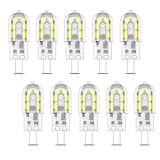 10X G4 LED Lámpara 2W LED Bombillas 12 SMD 2835 LEDs Blanco Frío 6000K Bombillas Lámpara 200LM Equivalente a Halógenas 20W AC/DC12V