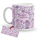 Kembilove Tazas de Desayuno de Cumpleaños – Taza con Mensaje de Feliz cumpleaños, Feliz cumpleaños – Tazas de Café y Té Ideal para Regalar a Amigos – Taza de cerámica de 350 ml