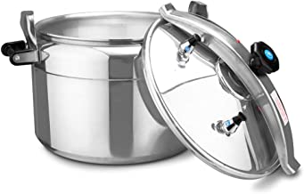 Pressure Cooker Super Pressure Cooker Large Capacity Hotel Restaurant Household Big Cooking Pan Autoclave Gas Use 24-30cm 8-16L Cookers (Color : 26cm(10L))