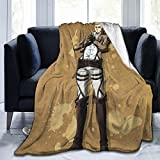 Erwin Smith Fluffy Soft and Comfortable Blanket, Anime Warm Embrace of Sympathy,Throw Blankets for Couch,Beds,Office,Camping Ground. … (50