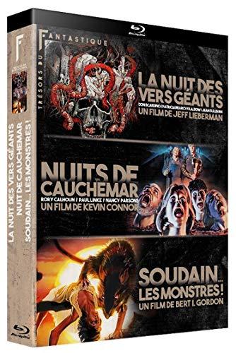 Coffret trésors du fantastique 3 films : la nuit des vers géants ; nuits de cauchemar ; soudain les monstres ! [Blu-ray] [FR Import]