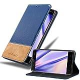 Cadorabo Hülle für Nokia 5 2017 in BLAU BRAUN – Handyhülle mit Magnetverschluss, Standfunktion & Kartenfach – Hülle Cover Schutzhülle Etui Tasche Book Klapp Style