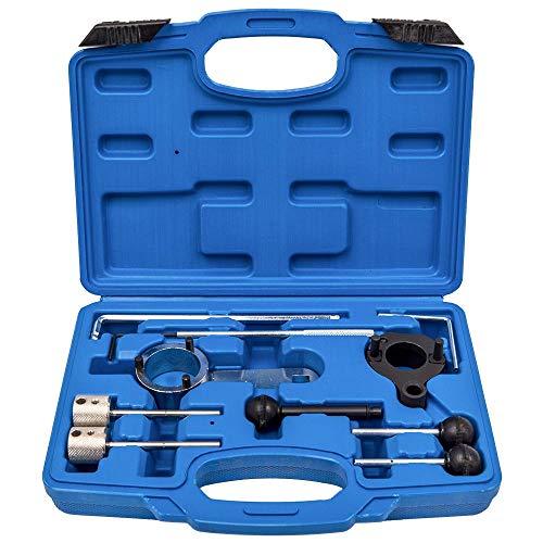 maXpeedingrods Kit Herramientas de Ajuste de Correa de Motor Diesel para Seat Leon para Audi para Skoda para VW 1.4 1.6 2.0TDI CR, 10PC Herramienta de Sincronización para Árbol de Levas Cigüeñal