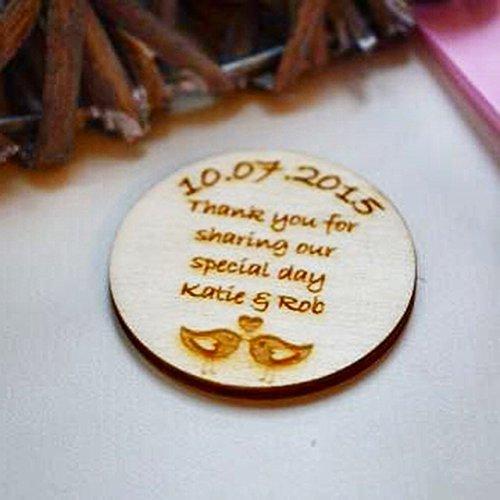 Heavenly Brunnen Hochzeit Save The Date Magnet, Liebesvogel-Design, personalisierbar, 10 Stück