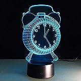 LZP-PP Ilusión 3D Luces de la noche de la lámpara de noche la luz de 7 colores Cambio de control remoto con la iluminación de la lámpara del temporizador de la lámpara de la noche de los niños niños c