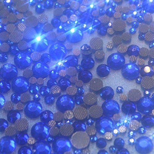 4mm 250 Strass en Verre HOTFIX s16 Ø 4 mm Couleur Bleu n° 105
