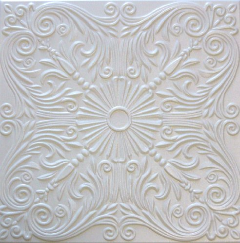 R39W Victorian White 20x20 Amazing Styrofoam Ceiling Tiles Easy to Glue Up On...