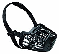 Close mesh provides safety Made of plastic material With nylon strap fully adjustable Help protect your dog and the surroundings Quick easy to fit and can be used during exercise and play New in original packing Attractive price High quality look