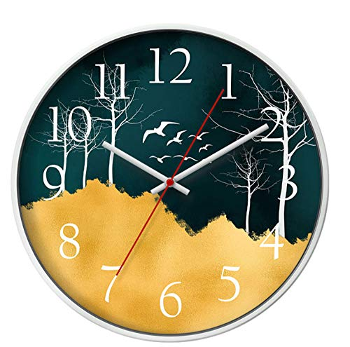 rrff Diámetro 35.5Cm Sala De EstarReloj Moderno Reloj Colgante Reloj Dormitorio Mudo Personalidad Reloj De Pared Diseño Moderno Temporizador