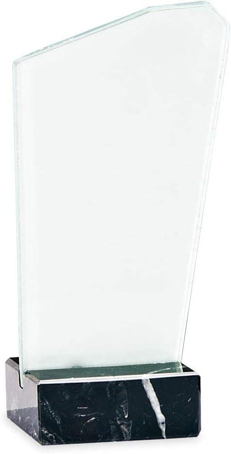 Trofeos Martínez - Trofeo de metacrilato Impreso a Color Personalizable con Base mármol. (22cm)