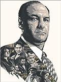 Poster 30 x 40 cm: Die Sopranos von The Usher Designs -