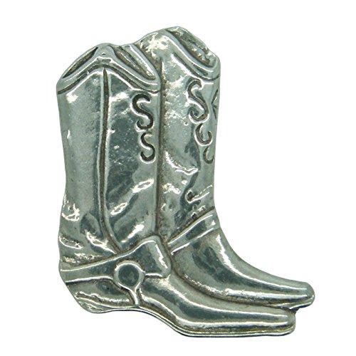 Brosche Zwei Cowboy-Stifel. Hand gegossen von William Sturt aus Deutsch Zinn.